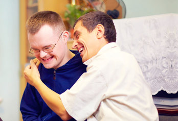 photo of two people with special needs